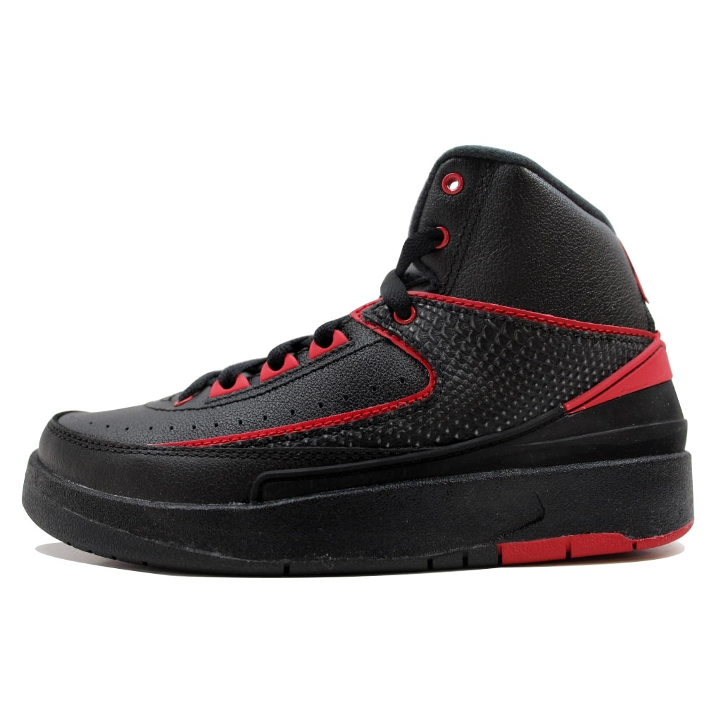 1c4f2c1ae05fa Nike Grade-School Air Jordan II 2 Retro BG Black/Varsity Red Alternate 87  834276-001