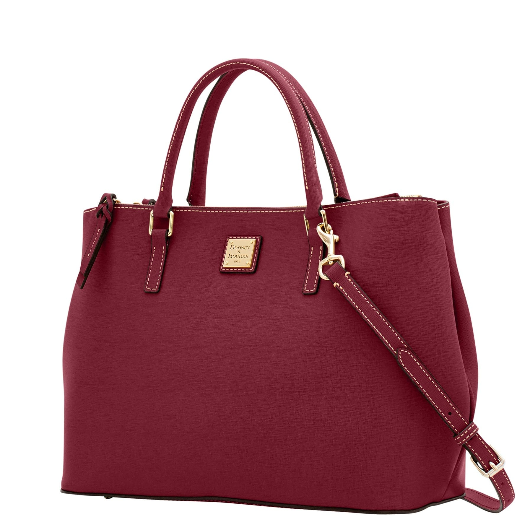 f1fd82a6e Shop Dooney   Bourke Saffiano Willa Zip Satchel (Introduced by Dooney    Bourke at  298 in Feb 2018) - Free Shipping Today - Overstock - 20004120