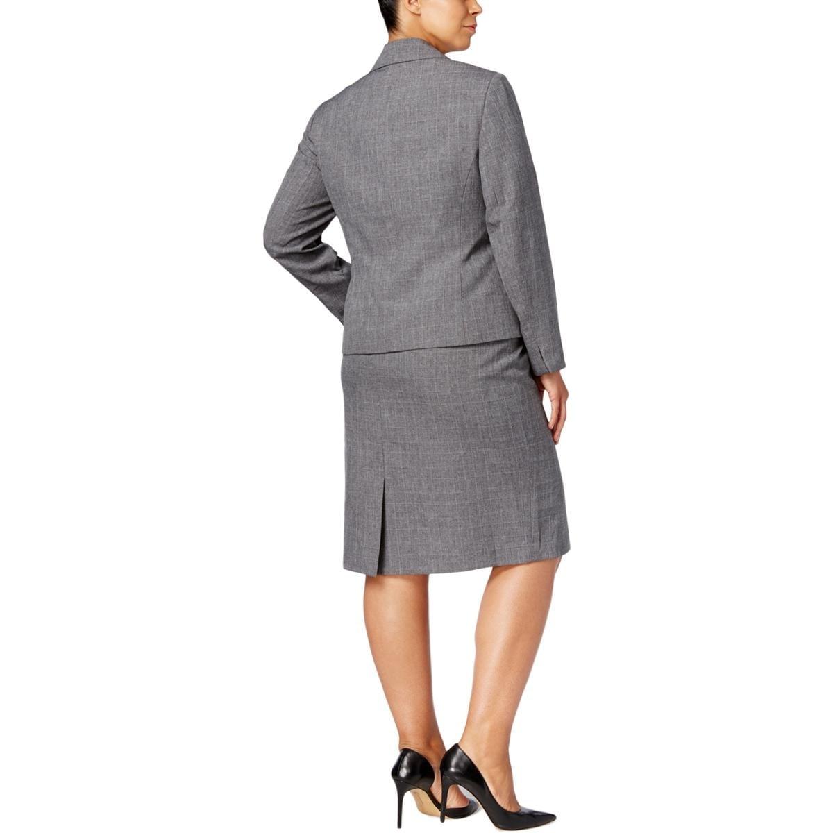 67e6dcc1dd Shop Le Suit Womens Plus Skirt Suit Glen Plaid Professional - Free Shipping  Today - Overstock - 27102756