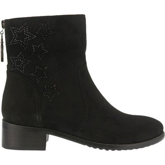 Azura Women S Rikki Ankle Boot Black Micro Suede
