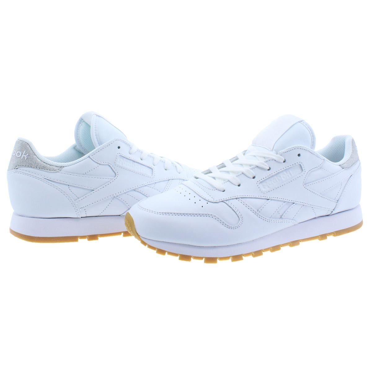 best service 24c79 de907 Reebok Womens Classic Leather Met Diamond Sneakers Retro Low-Top - 10  medium (b,m)