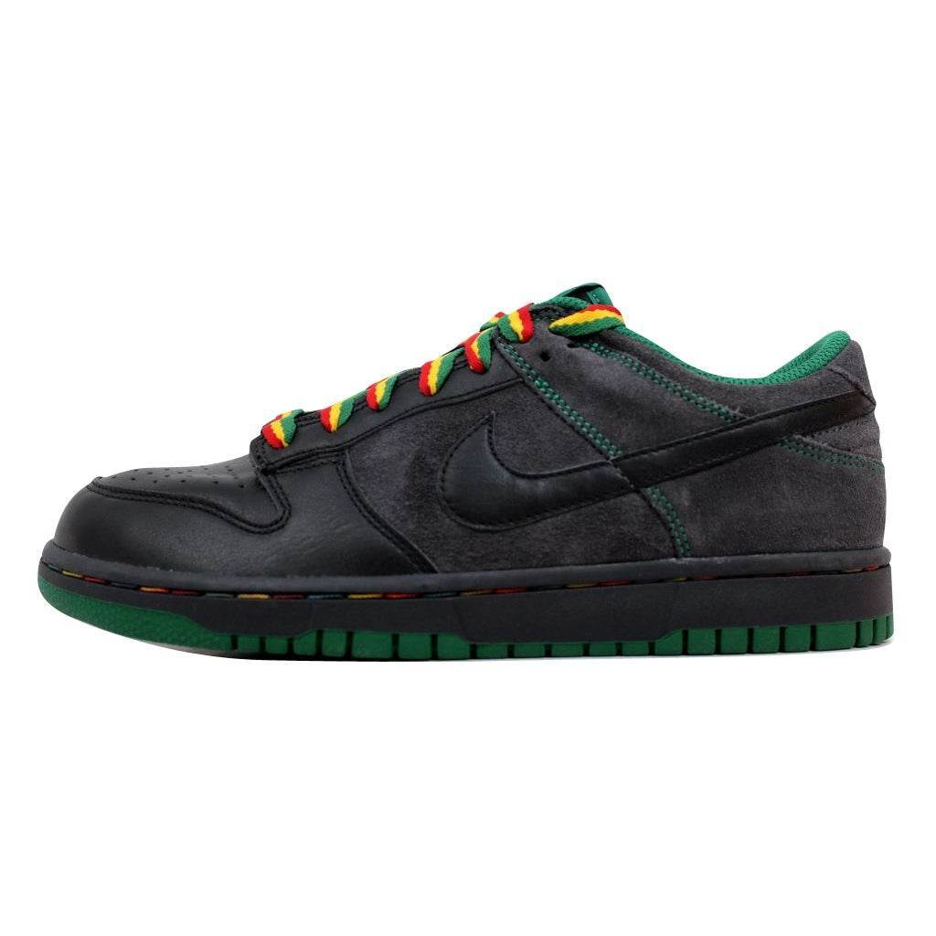 competitive price 5afad 4a0de ... cheapest shop nike mens dunk low cl black black anthracite pine green  rasta jamaica 304714 909
