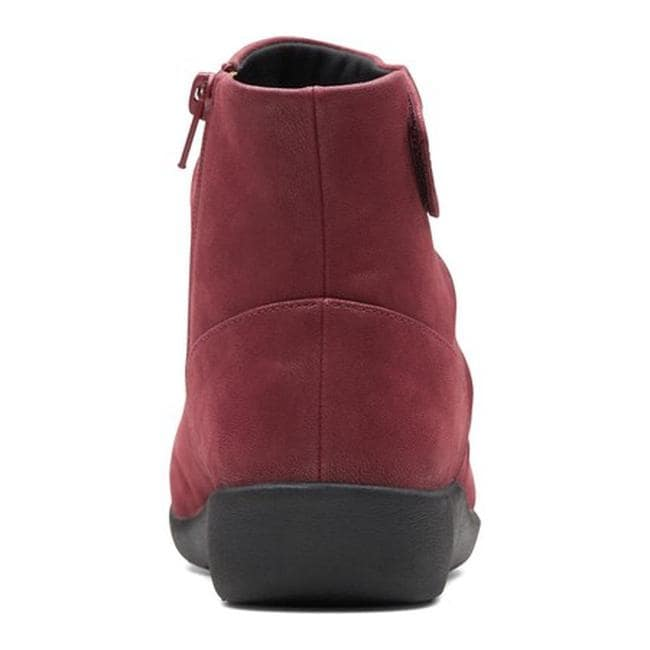 290ec1d0d77c Shop Clarks Women s Sillian Tana Ankle Boot Burgundy Synthetic - On Sale -  Free Shipping Today - Overstock - 24250347