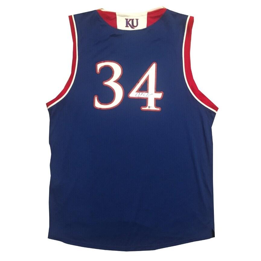 sneakers for cheap 2001f b4b00 Paul Pierce Autographed Kansas Jayhawks Signed Basketball Jersey Beckett  BAS COA