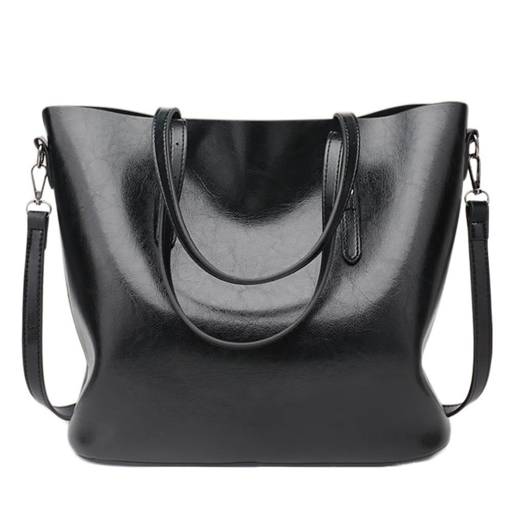 b616cf5d2b QZUnique Women s PU Leather Large Bucket Bag Casual Tote Handbag Cross Body  Shoulder-bag