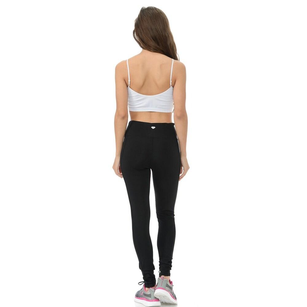 ce150b6197c32 Sweet Look Women s Power Flex Yoga Pants Leggings Sportswear - Style C32 -  Color - Black - Size - Small