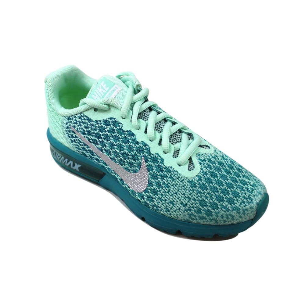 5a52438ded Shop Nike Air Max Sequent 2 Mint Foam/Metallic Silver 869994-301  Grade-School - Free Shipping Today - Overstock - 27601208
