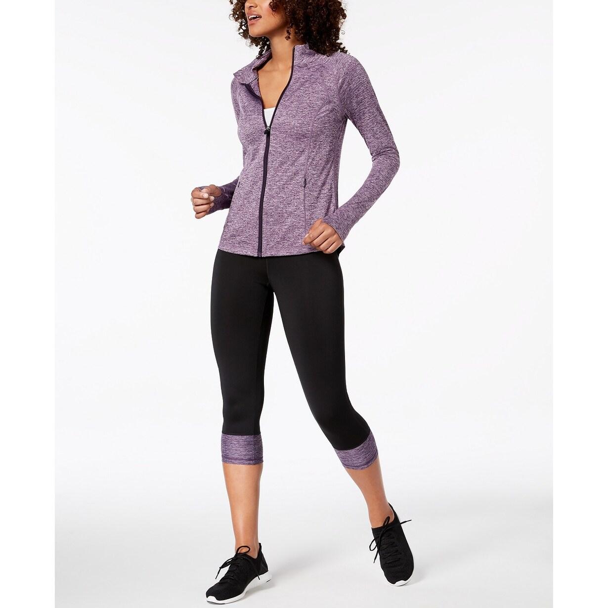 5c6cff2aeafc8f Shop Ideology Women's Rapidry Colorblocked Capri Leggings Purple Medium - M  (8 - 10) - On Sale - Free Shipping On Orders Over $45 - Overstock - 24303114