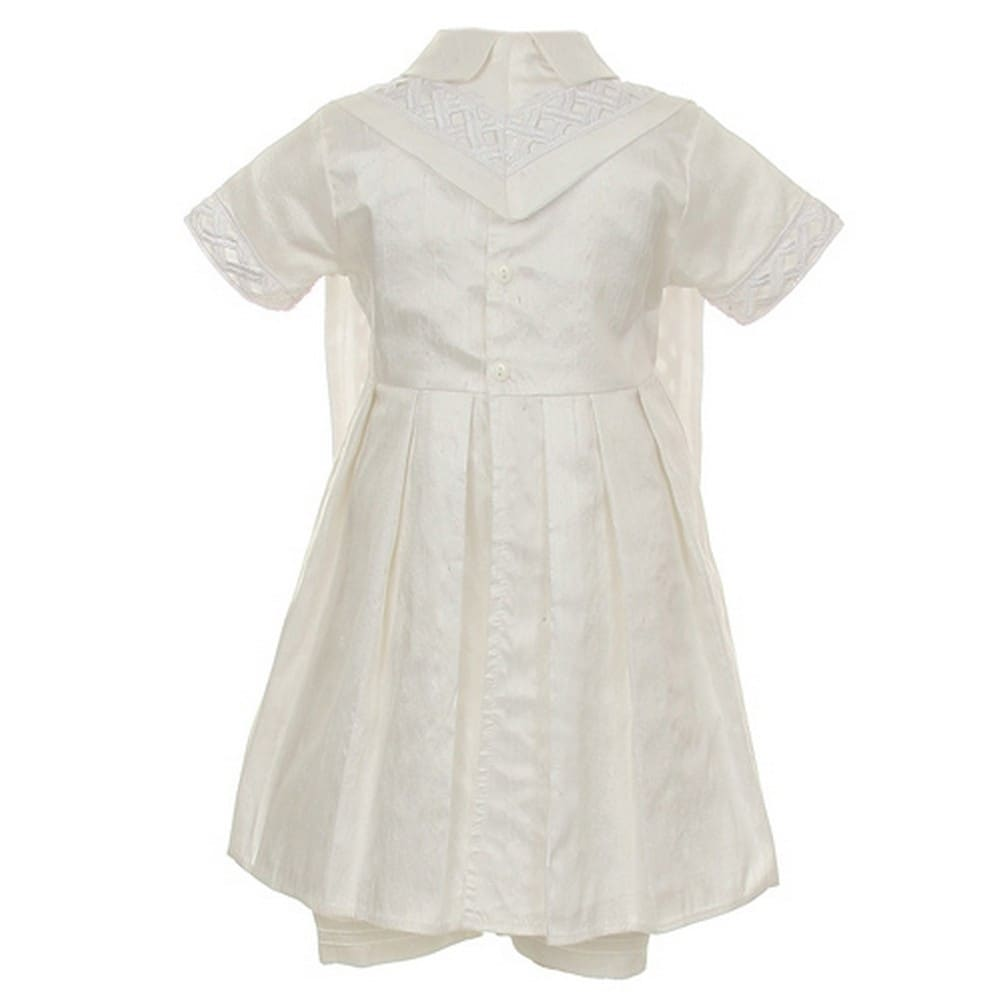 2b4c45550 Shop Rain Kids Baby Boys White Silk Cross Embroidered Hat Stole Baptism  Romper 6-12M - Free Shipping Today - Overstock - 23062126