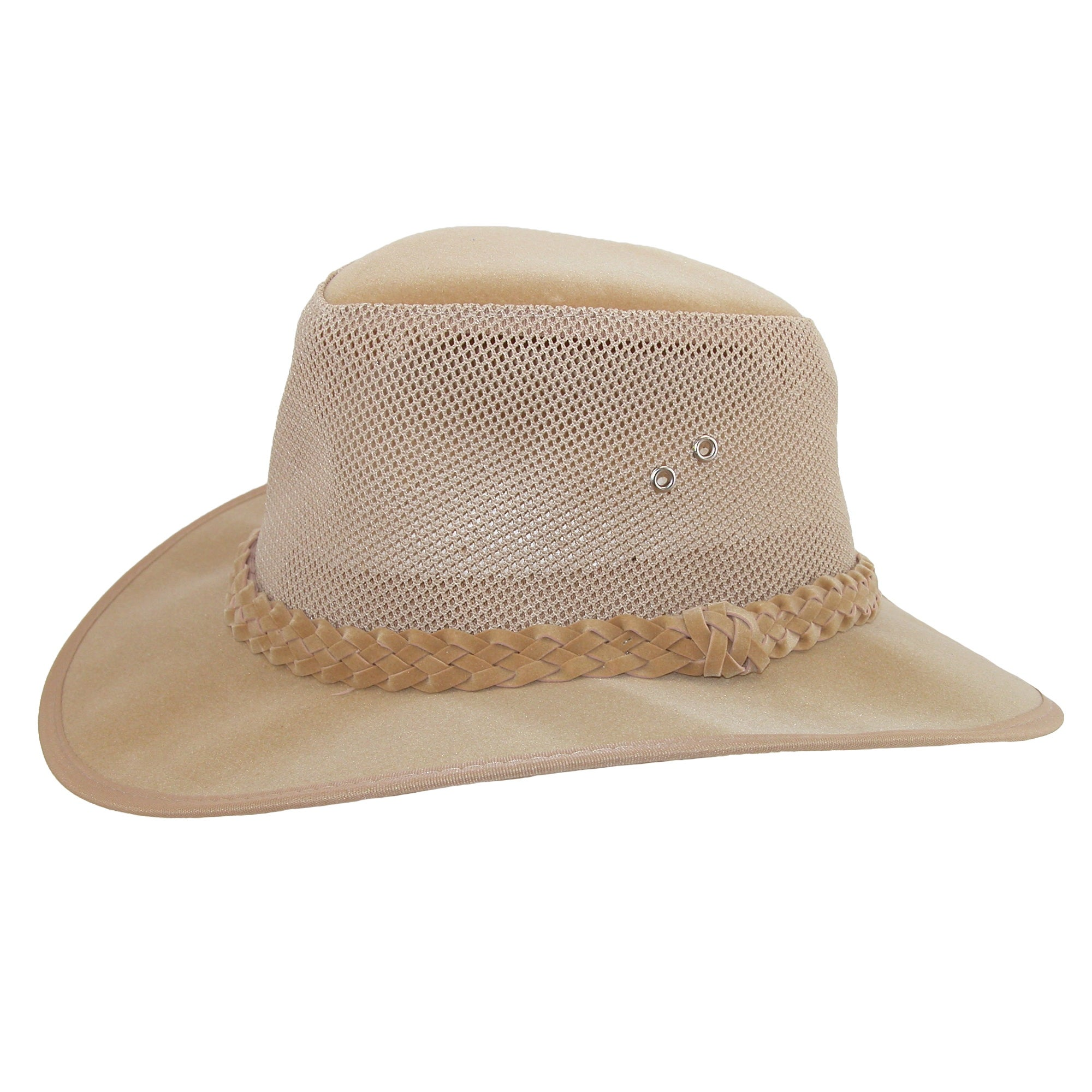 540e4664532 Shop Dorfman Pacific Men s Water Soaker UPF 50+ Mesh Sides Safari Hat -  Free Shipping On Orders Over  45 - Overstock - 14277774