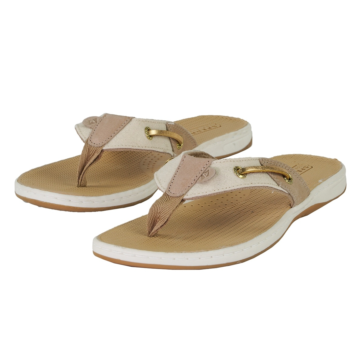 f486f498fee460 Shop Sperry Women s Seafish Stripe Sandal - LINEN - Free Shipping On Orders  Over  45 - Overstock - 25715605