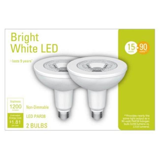 Ge 235074 15w Par38 Led Outdoor Flood Light Bulb Pack Of 2 Free Shipping On Orders Over 45 26145745