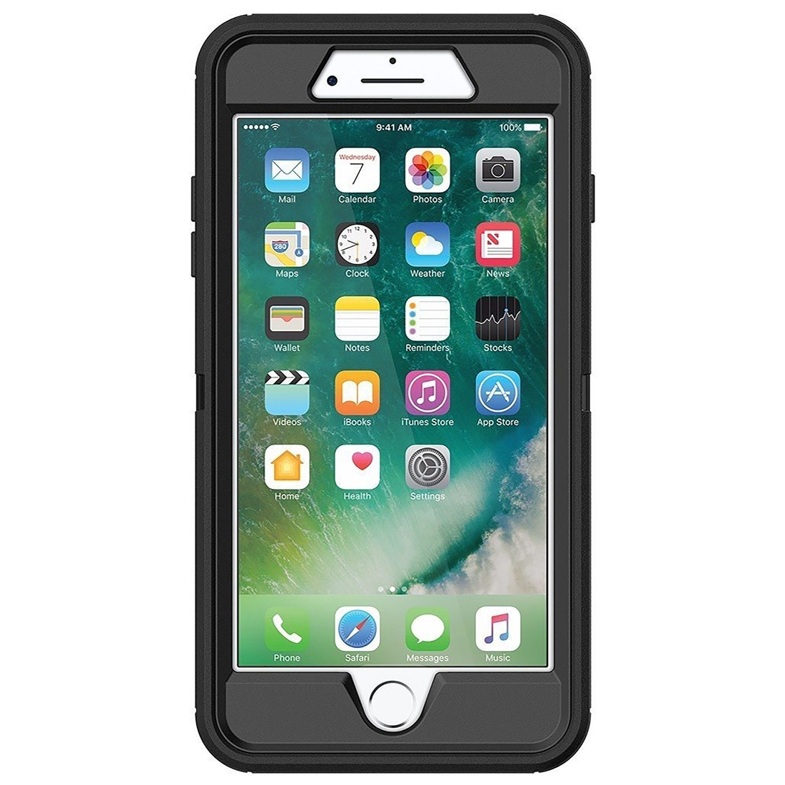 best sneakers 54050 54c32 OtterBox Defender Series Case for iPhone 8 Plus/7 Plus (77-53907) - Black