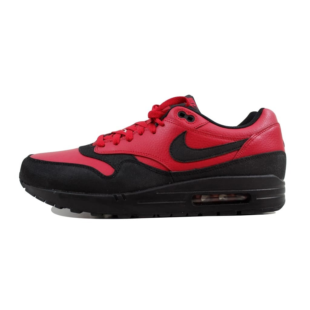 best sneakers 2e7d9 b98e2 Shop Nike Men s Air Max 1 Leather Premium Gym Red Black 705282-600 Size 13  - Free Shipping Today - Overstock - 22919306