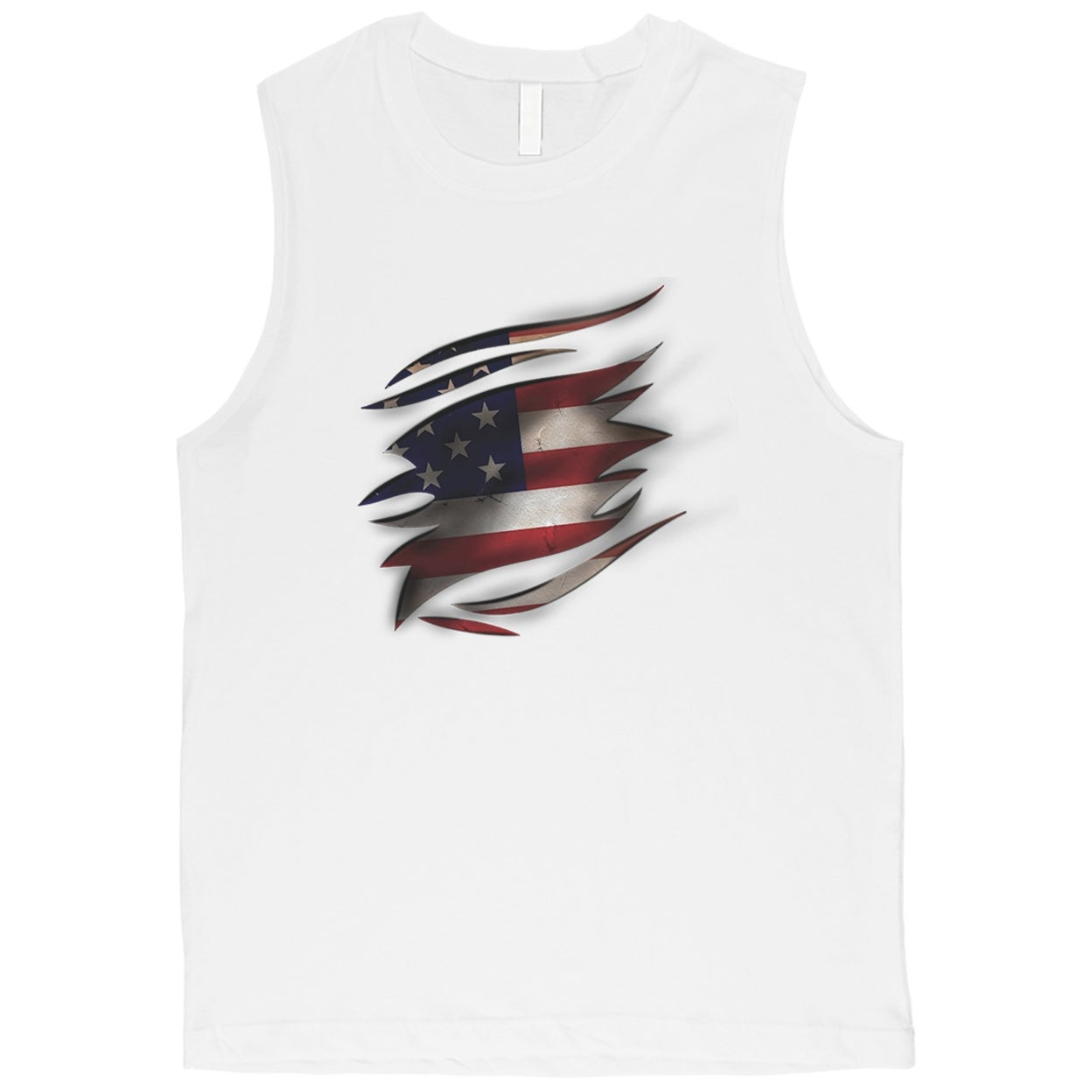 02117c653a2e5 Shop American Flag Ripped Mens 4th of July Muscle Tank Top Gift For Him -  White - On Sale - Free Shipping On Orders Over  45 - Overstock - 23382872
