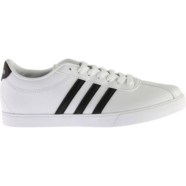 super popular 1af0d 1bac4 Shop adidas Womens NEO Courtset Sneaker FTWR WhiteCore BlackMatte Silver  - Free Shipping On Orders Over 45 - Overstock - 14222661
