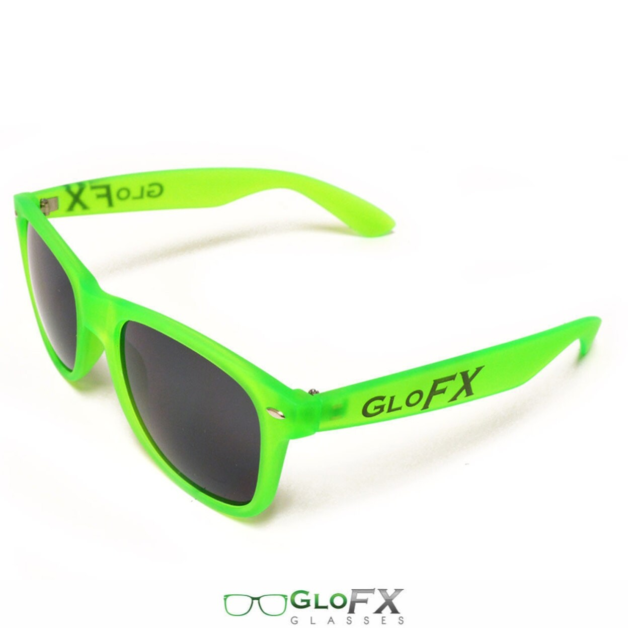 702e59a5f6152 Shop GloFX Regular Sunglasses â   GLOW Green in the Dark Rave Light Goggles  Tinted Lenses Scratch Resistant True-Flex PVC Frame - Free Shipping On  Orders ...