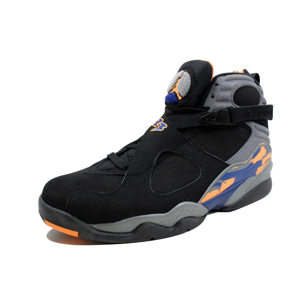 75dcf9c74a8368 Shop Nike Men s Air Jordan VIII 8 Retro Black Bright Citrus-Cool Grey-Deep  Royal Blue Phoenix Suns 305381-043 - Ships To Canada - Overstock - 19507294