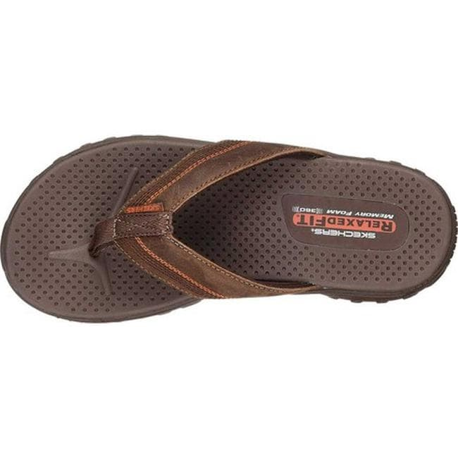 120db383527b Shop Skechers Men s Relaxed Fit Reggae Cobano Thong Sandal Brown - On Sale  - Free Shipping On Orders Over  45 - Overstock - 19774681