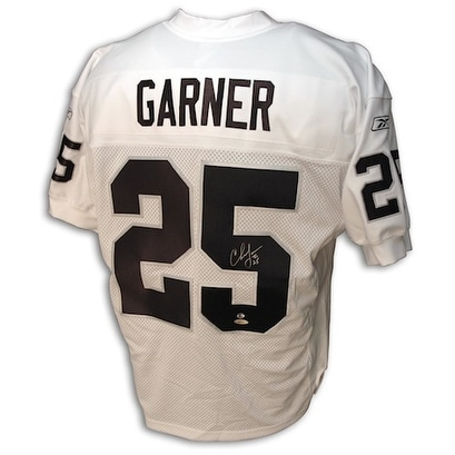 8a26e7de411 Shop Autographed Charlie Garner Oakland Raiders Authentic White Reebok  Jersey - Free Shipping Today - Overstock - 13075527