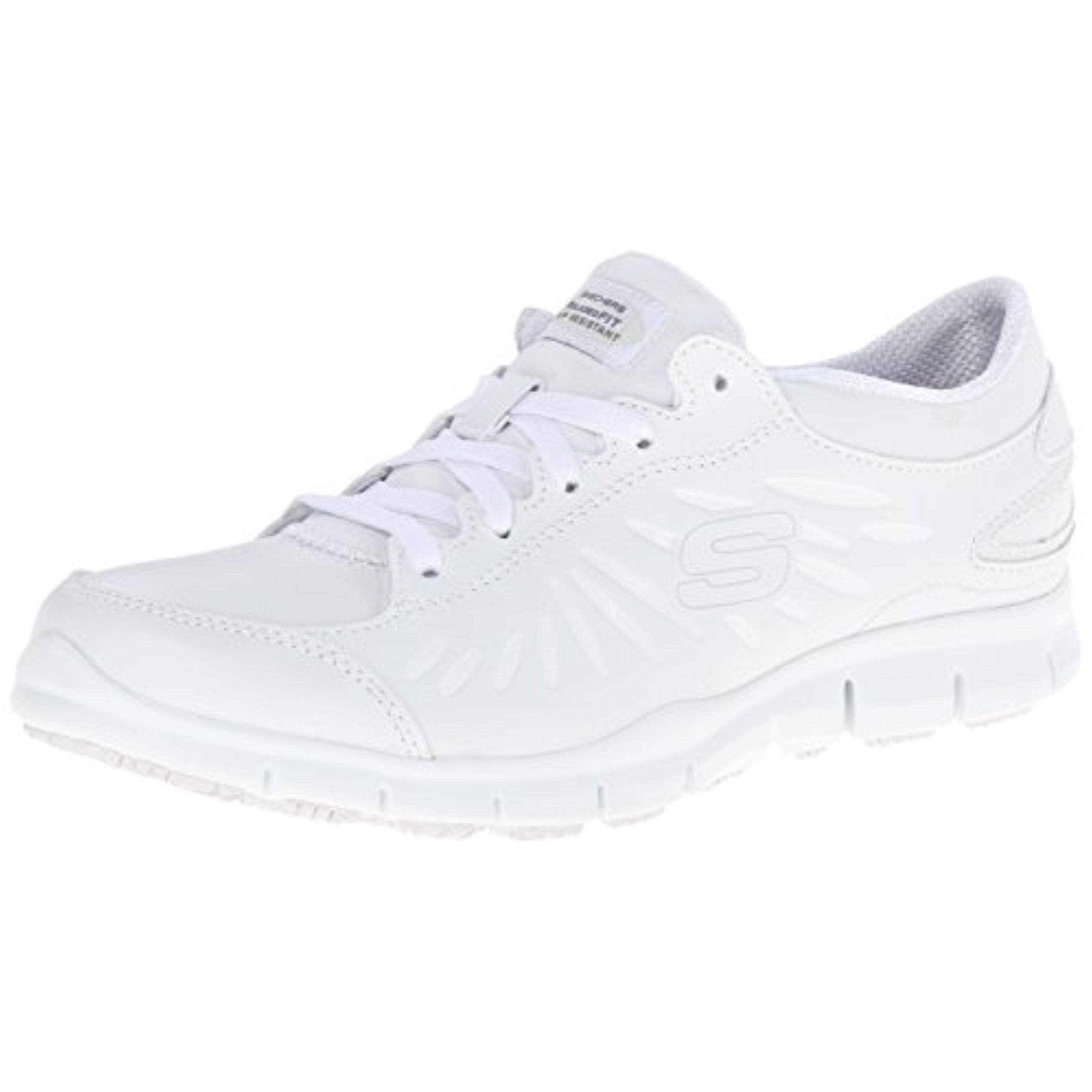 skechers womens white work shoes