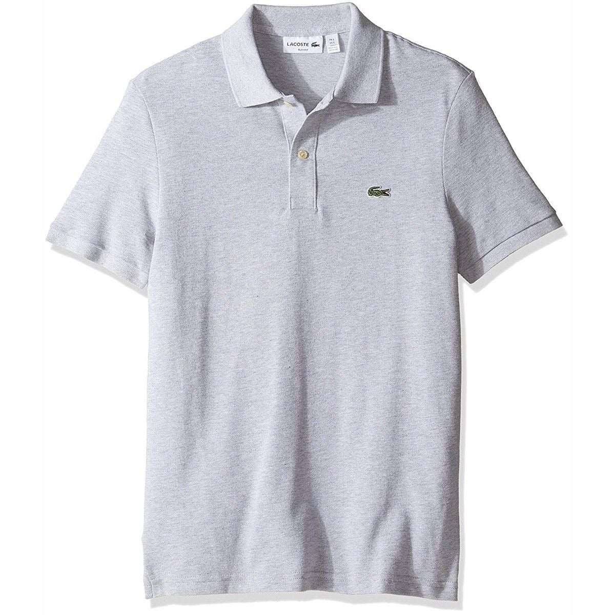 Shop Lacoste New Heathered Gray Mens Us Size Xl Fr 6 Classic Fit