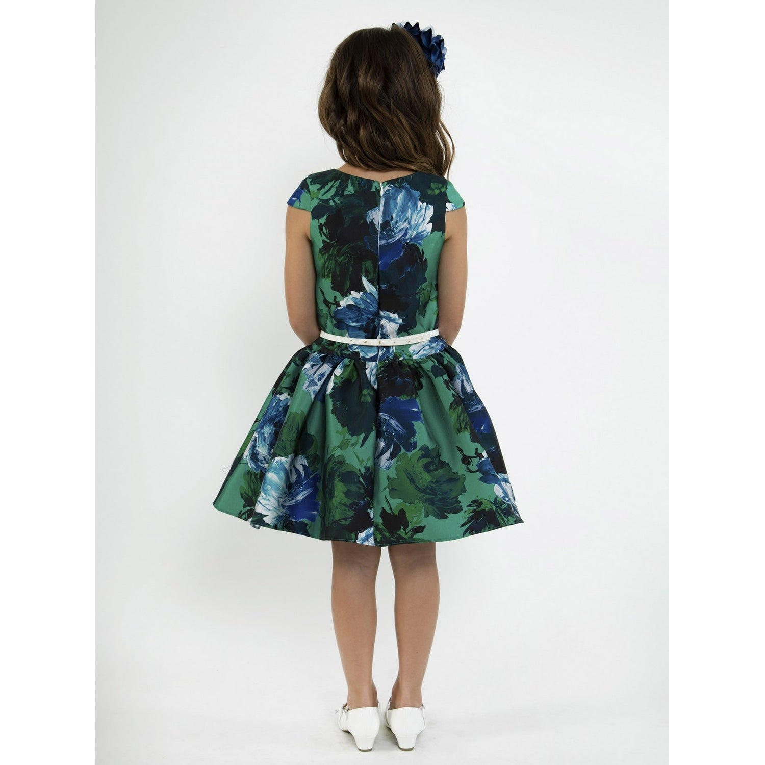 2839104626f027 Shop Kids Dream Girls Royal Blue Floral Mikado Junior Bridesmaid Dress -  Free Shipping Today - Overstock - 23159667