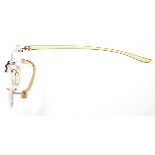 b2b70b606615 Shop Eyekepper Readers Small Lenes Rimless Reading Glasses Yellow Arm +0.5  - Free Shipping On Orders Over $45 - Overstock - 15947535