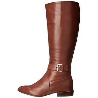 38202219ff4 Shop Nine West Womens Diablo Wide Calf Leather Pointed Toe Knee High Riding  Boots - Free Shipping Today - Overstock - 14537715