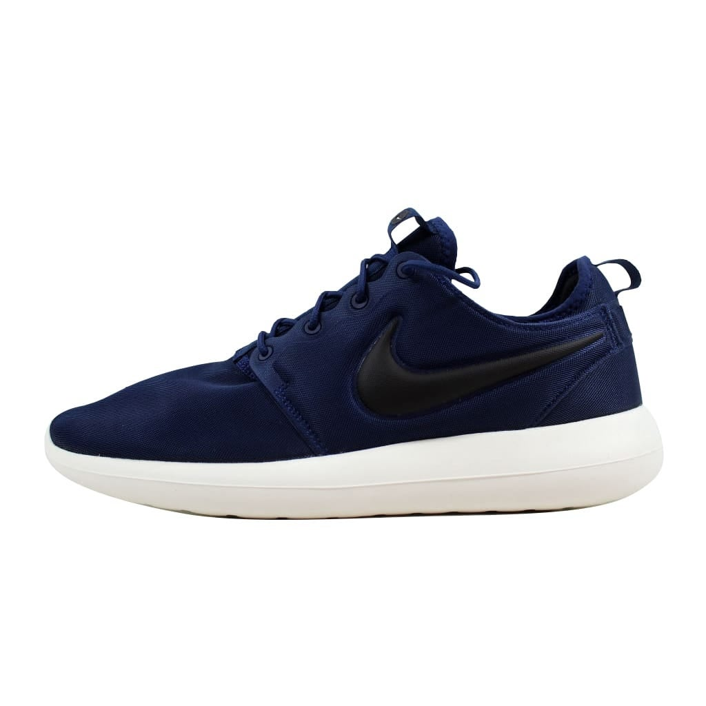 3b7366b48 Shop Nike Roshe Two Midnight Navy/Black-Sail-Volt 844656-400 Men's - Free  Shipping On Orders Over $45 - Overstock - 22340383
