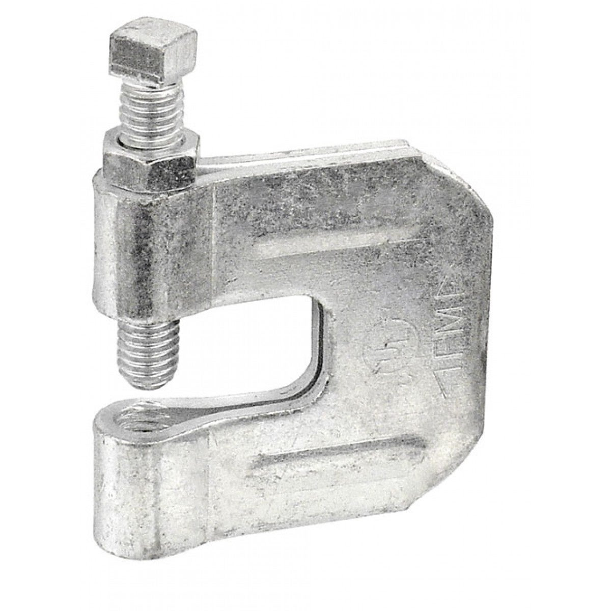 2 Pcs, 3/8-16 C Style Steel Beam Clamp for Vertical Loads, Galvanized Steel
