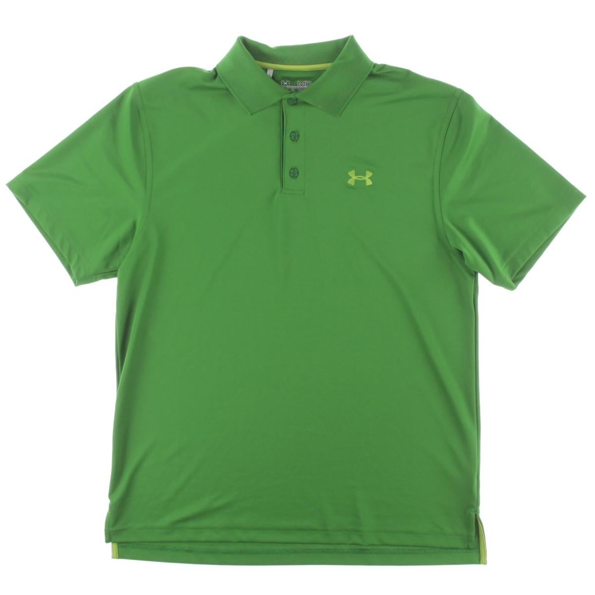 Shop Under Armour Mens Polo Shirt Knit Solid M Free Shipping On