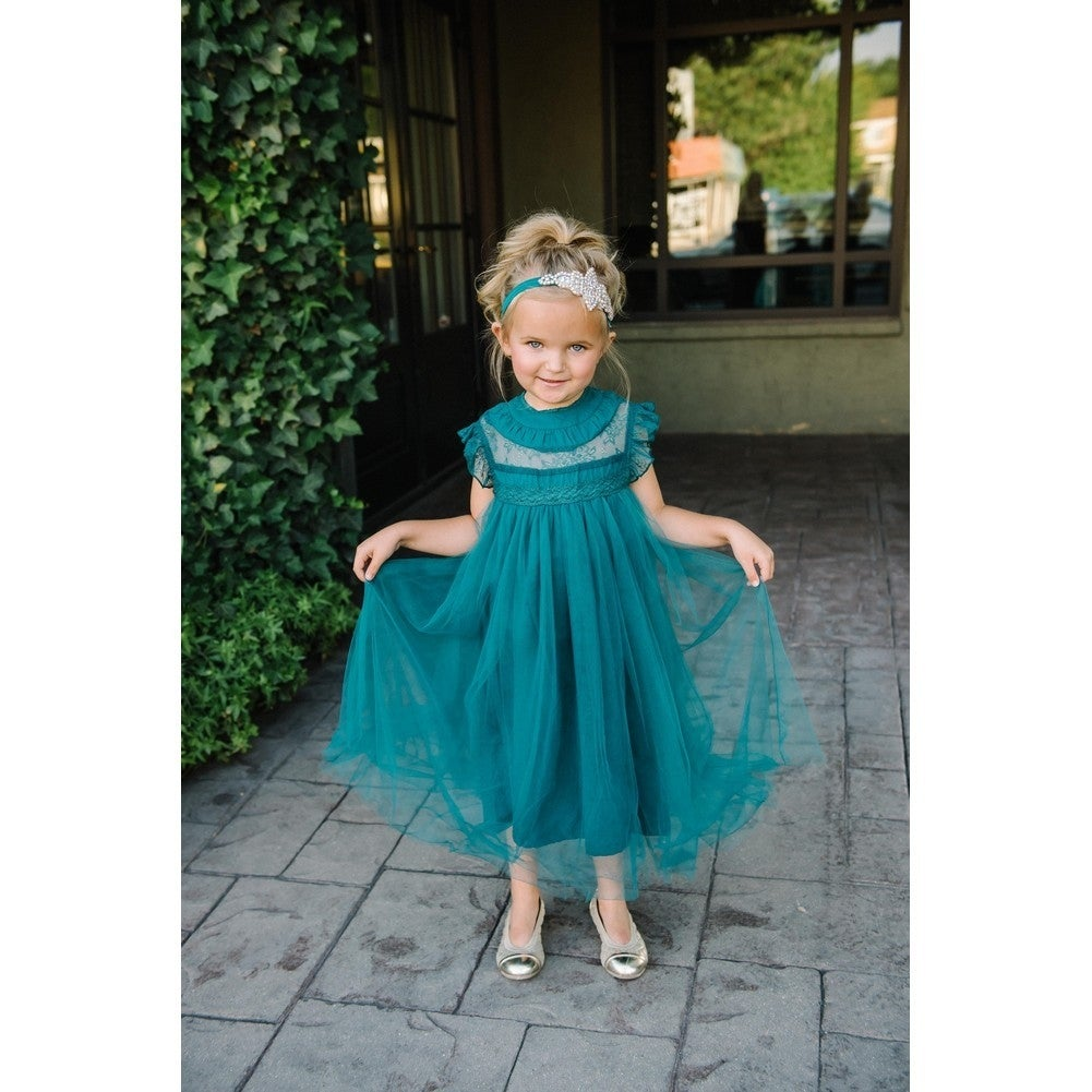Shop think pink bows little girls hunter green lace adrianna flower shop think pink bows little girls hunter green lace adrianna flower girl dress 2 free shipping on orders over 45 overstock 18164733 mightylinksfo