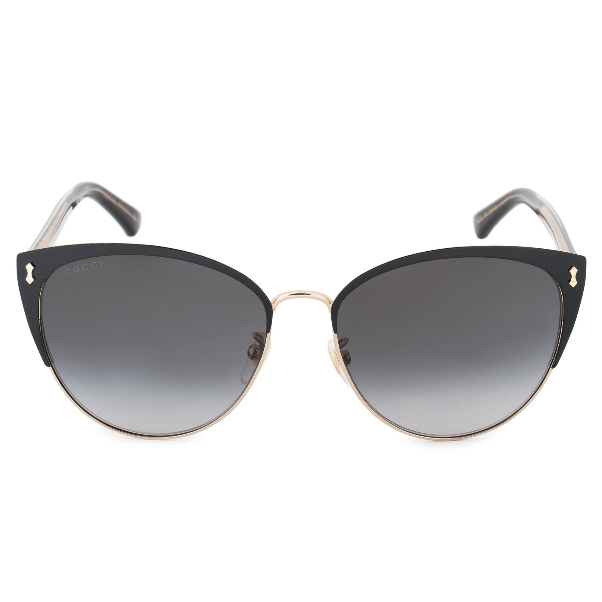 0da16b39c9478 Shop Gucci GG0197SK 002 58 Cat Eye Sunglasses - Free Shipping Today ...