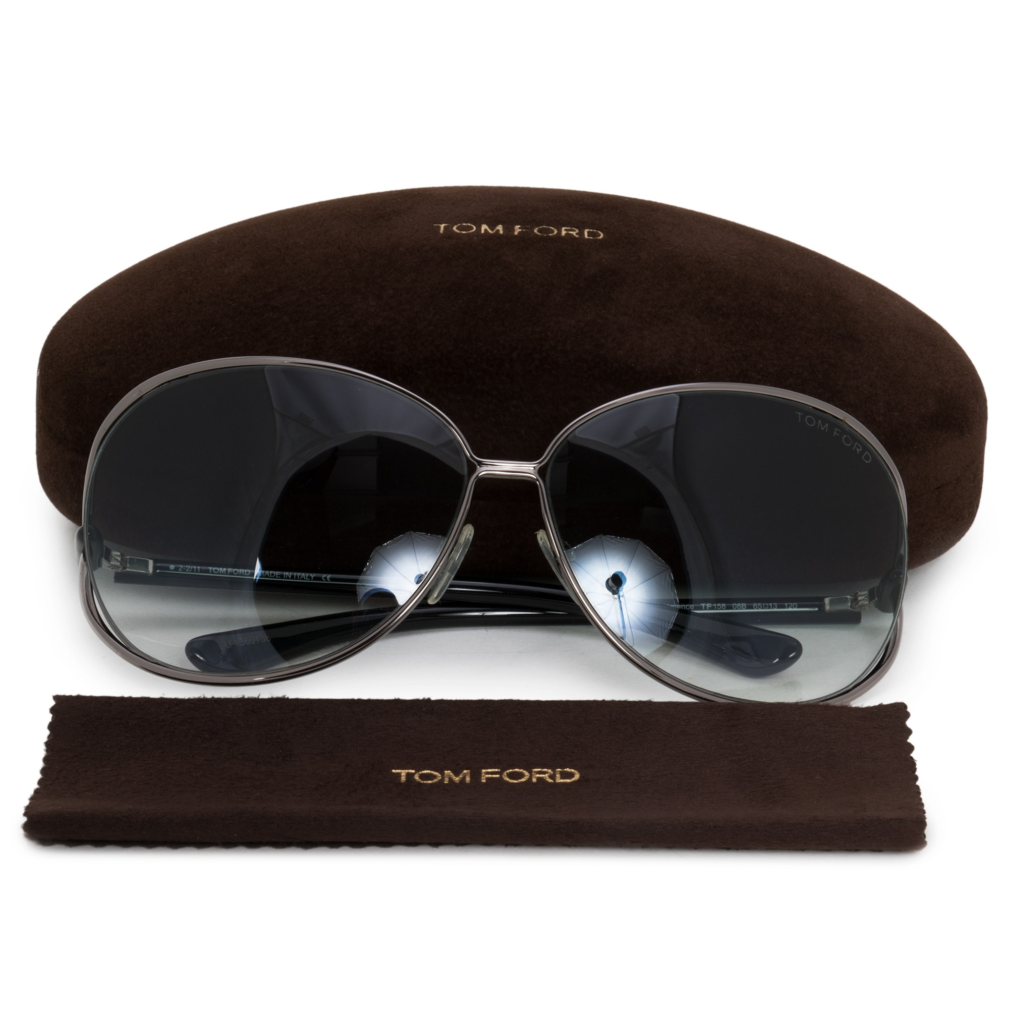 b462cc2a4e10b Shop Tom Ford Clemence Butterfly Sunglasses FT0158 08B 65 - Free Shipping  Today - Overstock - 21408640
