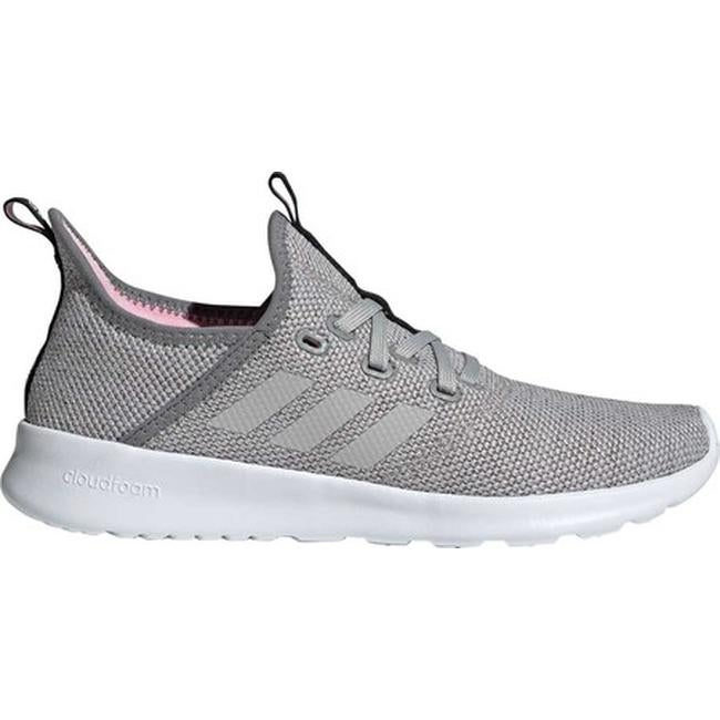 1355cfe6612295 Shop adidas Women s Cloudfoam Pure Sneaker Grey Three F17 Grey Two F17 True  Pink - Free Shipping Today - Overstock - 28032275