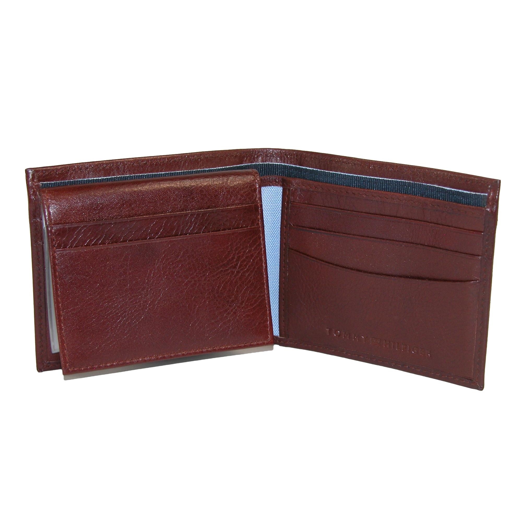 f8e33991d8c9 Tommy Hilfiger Men's Leather York Passcase Bilfold Wallet - one size