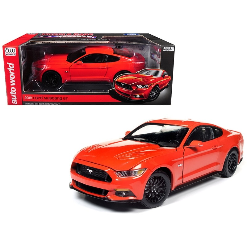 2016 Ford Mustang Gt 5 0 Coupe Compeion Orange Limited Edition To 1002 Pieces 1 18 Cast Model Car By Autoworld Free Shipping Today