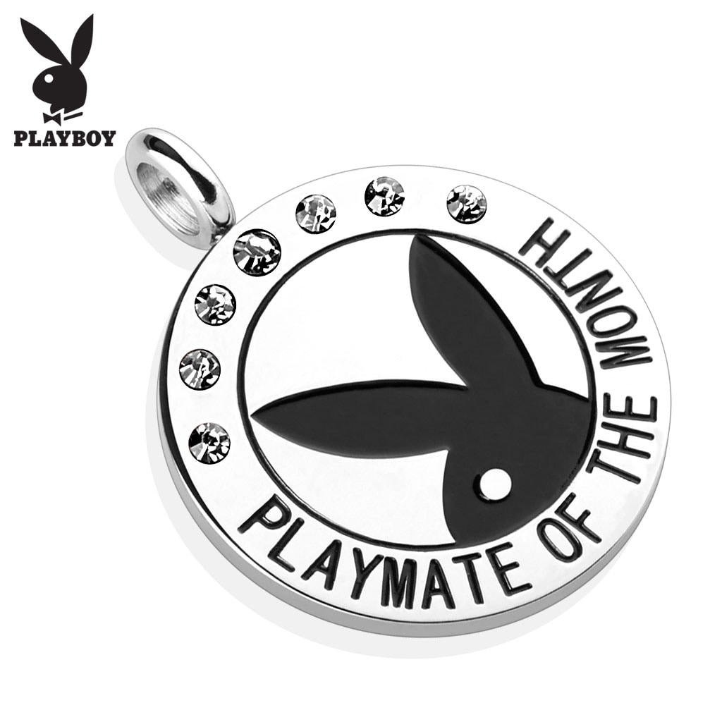 Shop Playboy Logo with Colored Gems \