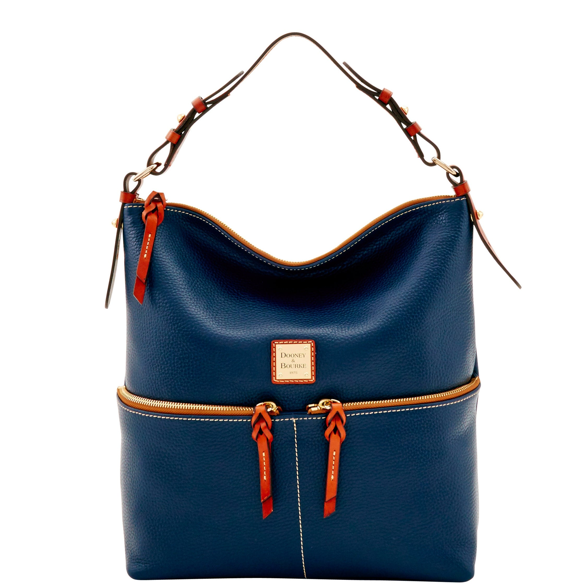 ed8fbcf679 Shop Dooney   Bourke Pebble Grain Zipper Pocket Sac Shoulder Bag (Introduced  by Dooney   Bourke at  268 in May 2017) - Free Shipping Today -  Overstock.com - ...