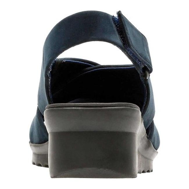 dddc547a1c66 Shop Clarks Women s Caddell Petal Strappy Sandal Navy Synthetic Nubuck -  Free Shipping Today - Overstock - 20702450