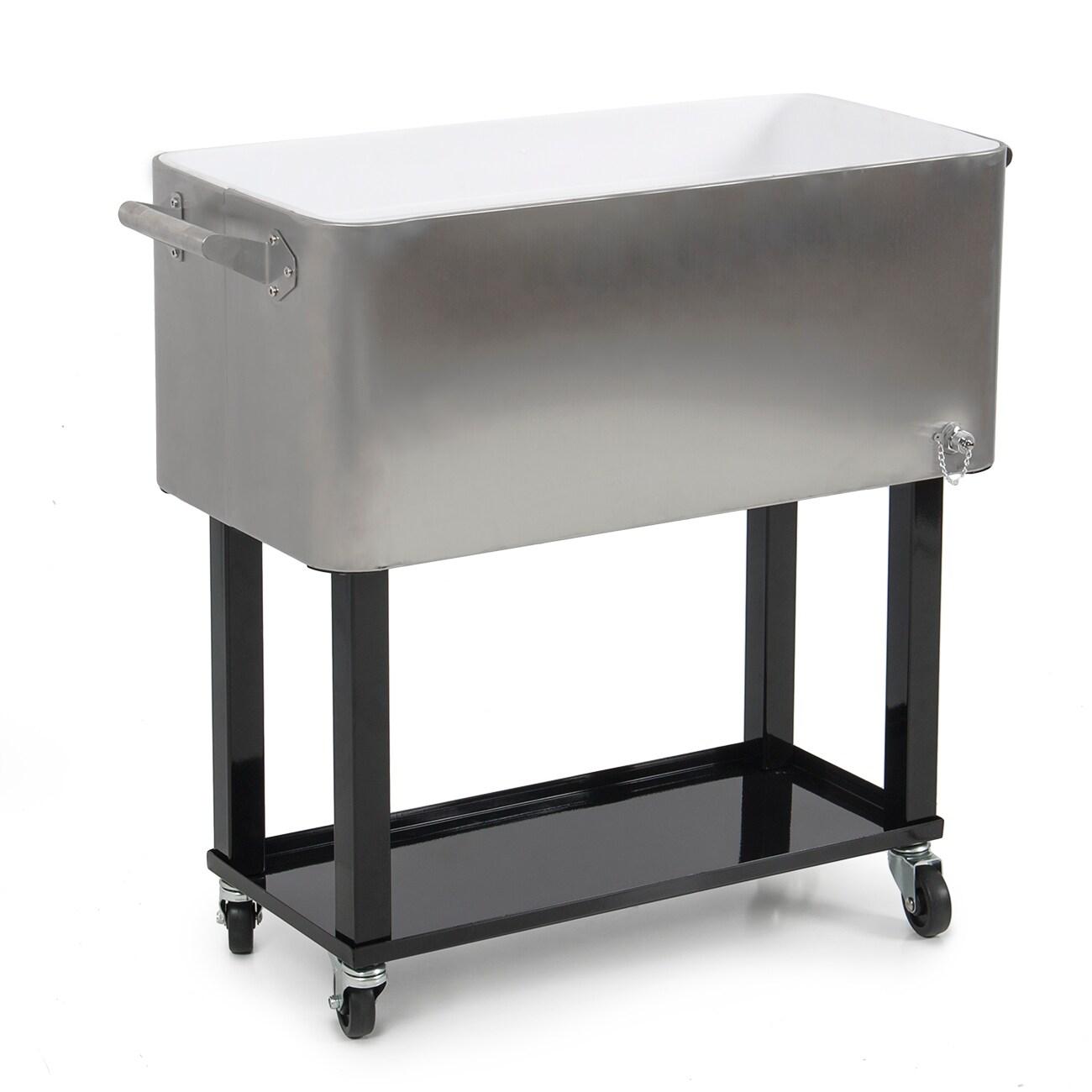 Shop Belleze 80 Quart Portable Rolling Ice Chest Cooler Cart
