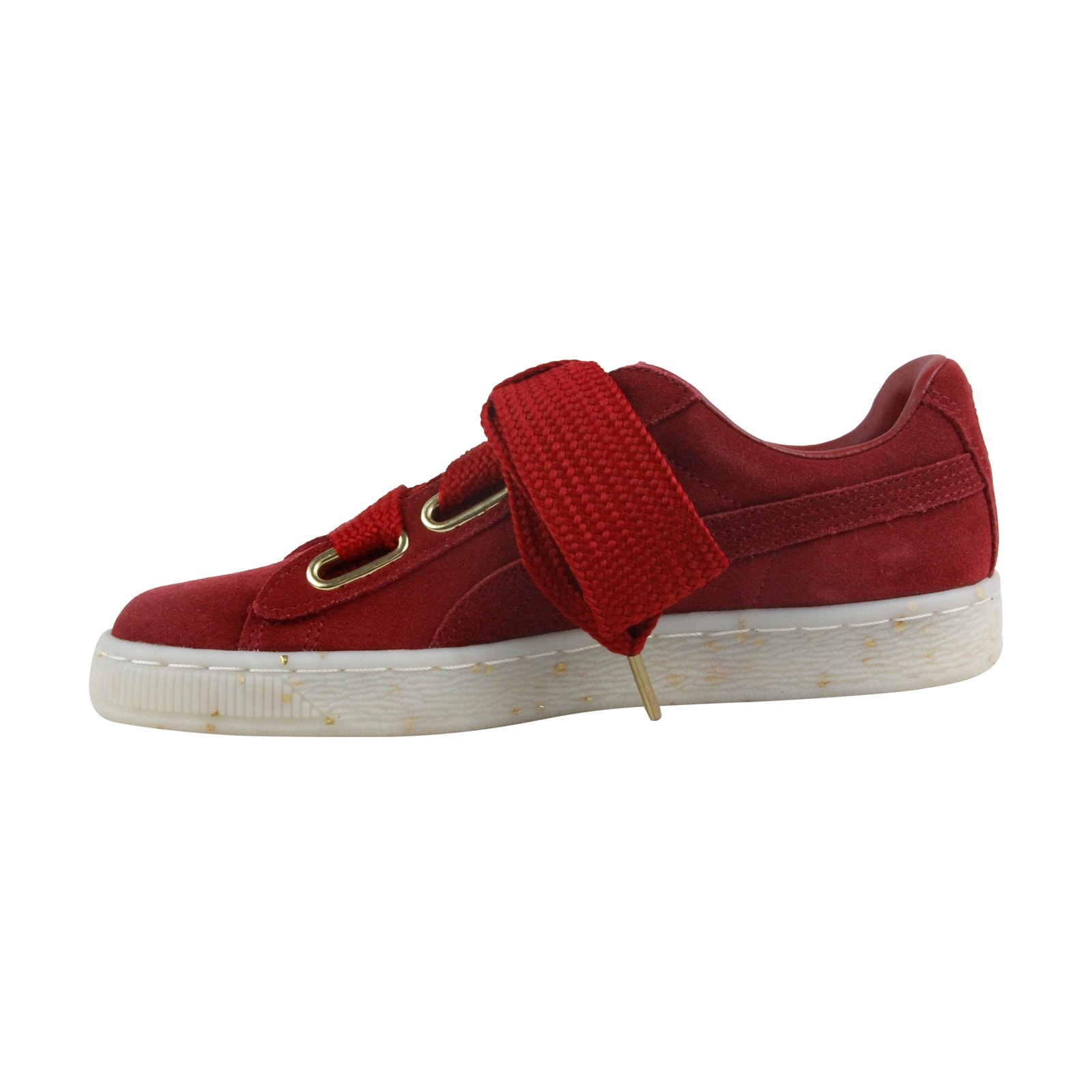 5dd3848d5d8 Shop Puma Heart Fab Womens Red Suede Lace up Sneakers Shoes - Free Shipping  Today - Overstock - 21730793