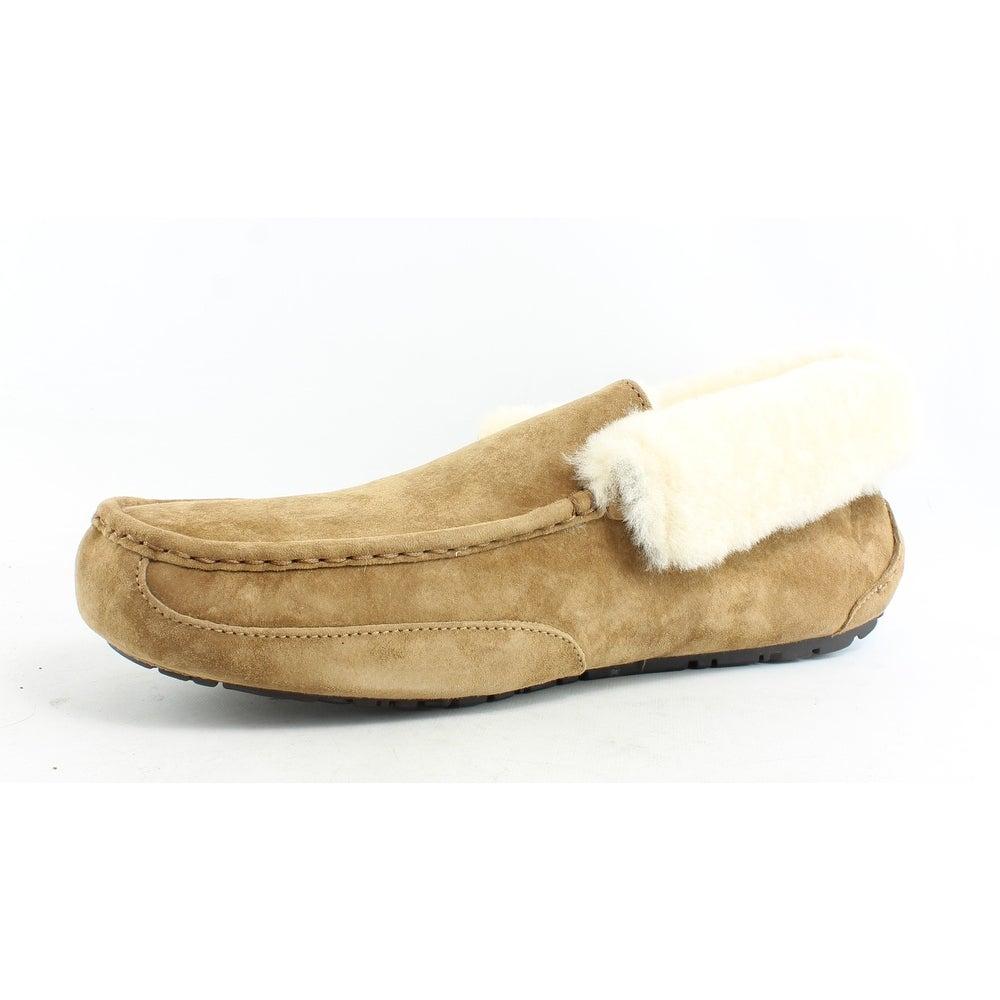 c3deddf187c UGG Mens Grantt Chestnut Suede Moccasin Slippers Size 18