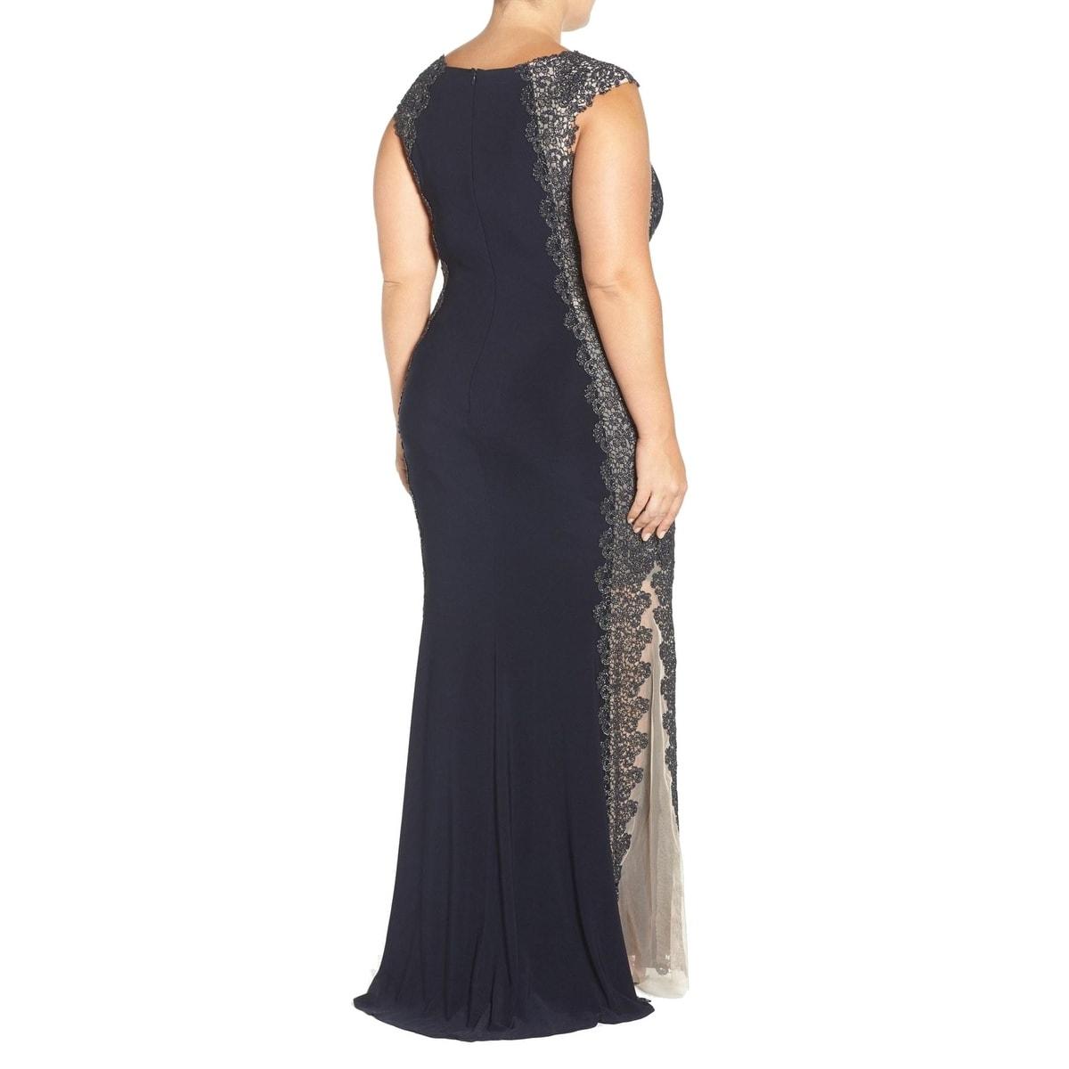 Shop Xscape NEW Blue Women\'s Size 22W Plus Ball Crochet Metallic ...