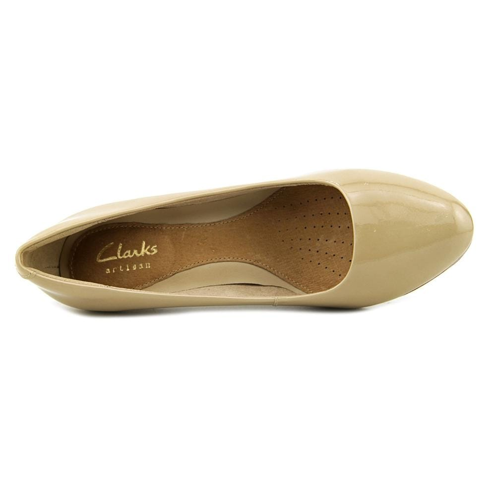 Clarks Narrative Tempt Appeal Women W Open Toe Patent Leather Nude Platform  Heel - Free Shipping On Orders Over $45 - Overstock - 22751153