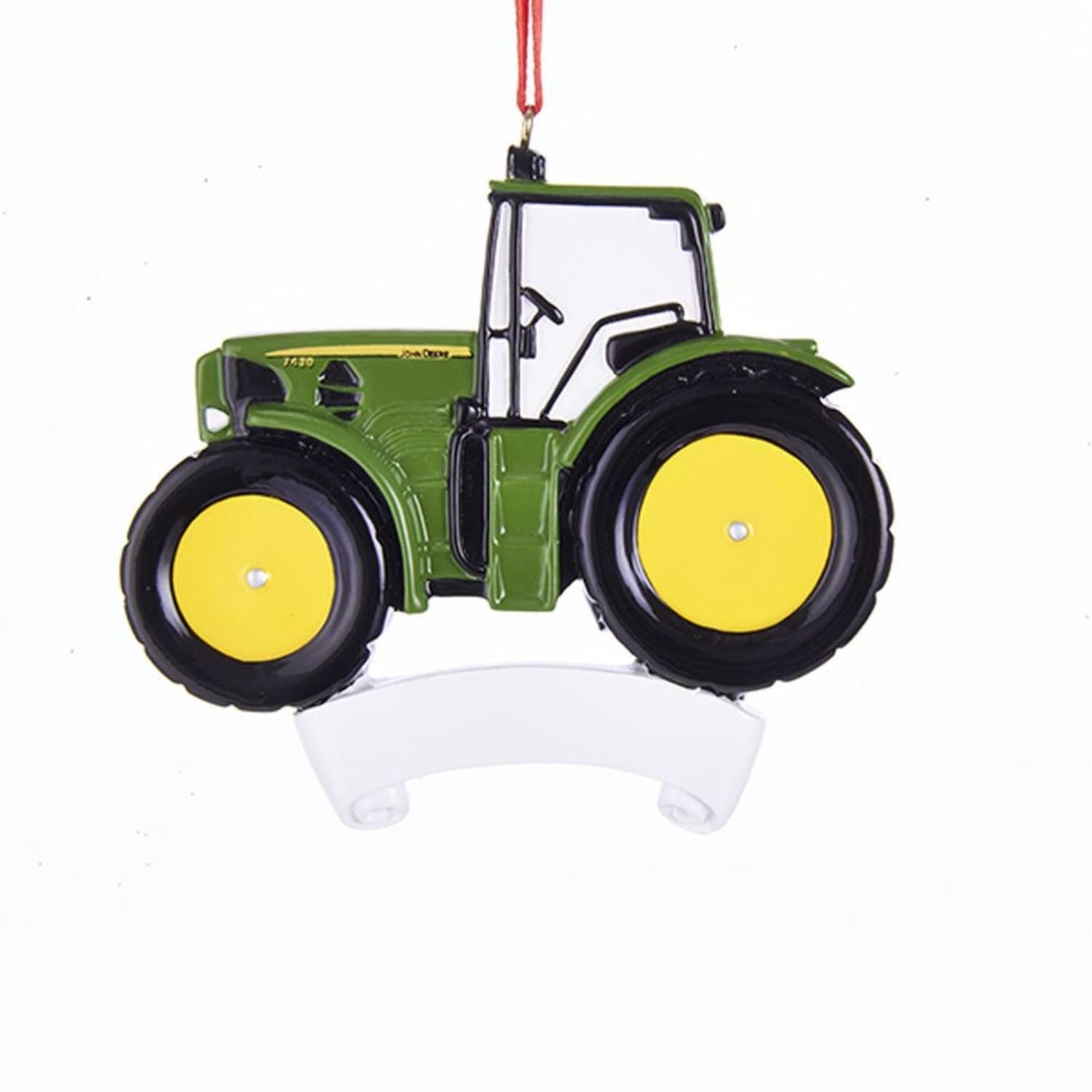 Shop Pack of 12 Green and Yellow John Deere Tractor Ornaments ...