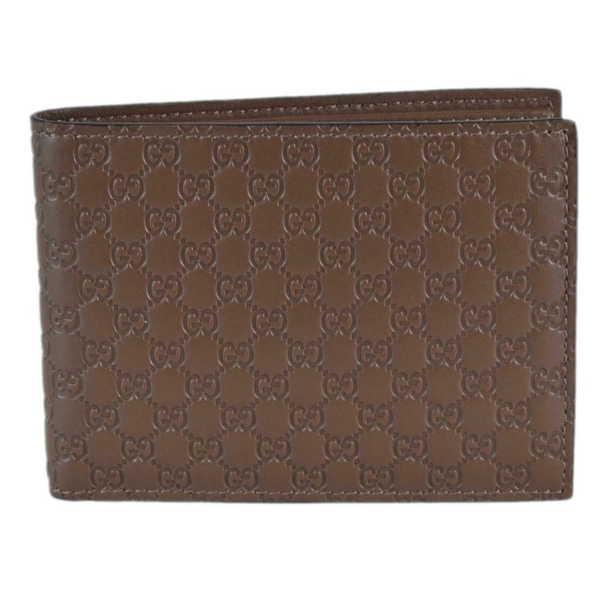 d14a35ccb857 Shop Gucci Men's 278596 Acero Brown Micro GG Guccissima Large Bifold Wallet  - 5