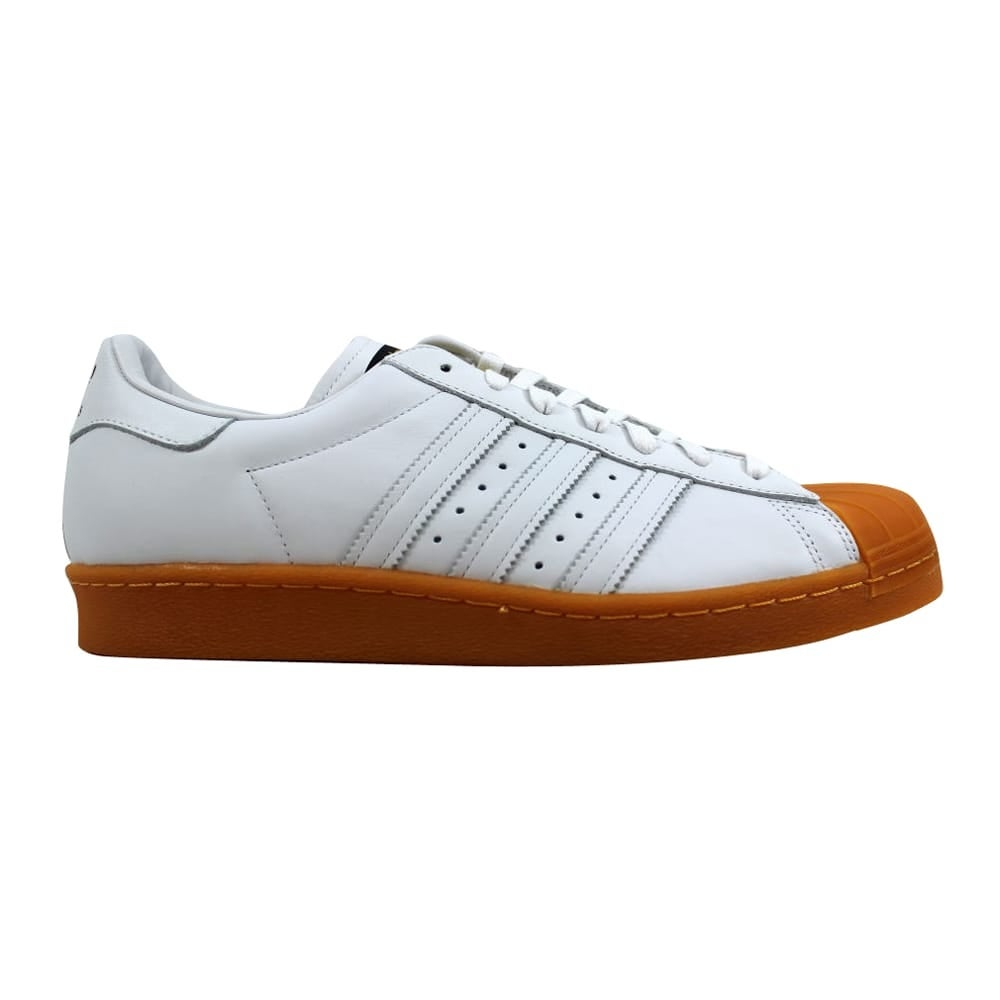 separation shoes 49215 d3b2d Adidas Men's Superstar 80s Deluxe White/White-Gold Metallic S75830 Size 11.5