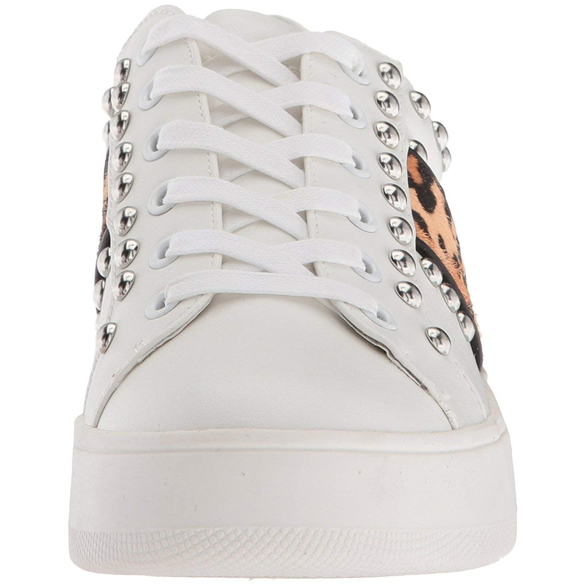 ba5d549a829 Shop Steve Madden Womens Belle Leather Low Top Lace Up Fashion Sneakers -  Free Shipping Today - Overstock - 22319841